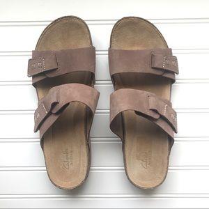 NEW Clarks | Leather Slip On Sandal | Perri Island